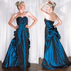 Iridescent Couture Train Pageant Homecoming Dress